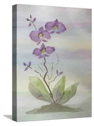 Orchid Duo 1-Debbie Pearson-Stretched Canvas Print