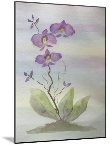 Orchid Duo 1-Debbie Pearson-Mounted Art Print
