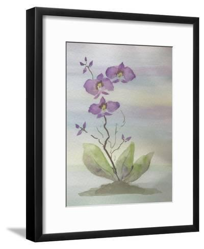 Orchid Duo 1-Debbie Pearson-Framed Art Print