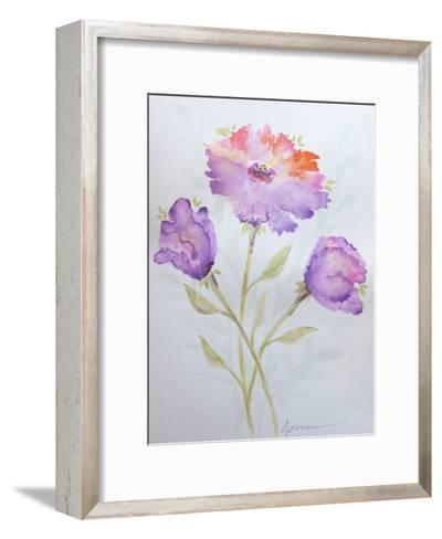 Poppies 2-Debbie Pearson-Framed Art Print