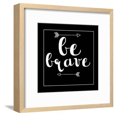 Be Brave Arrow-Jelena Matic-Framed Art Print