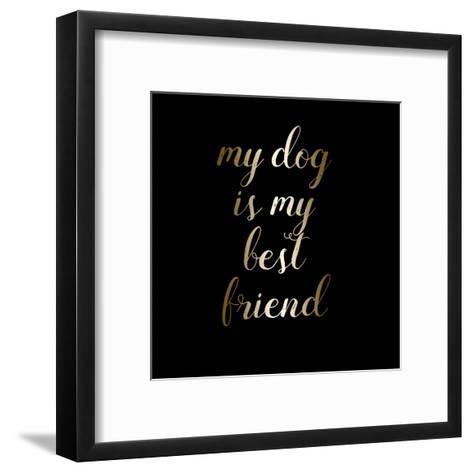 Best Friend Dog-Jelena Matic-Framed Art Print