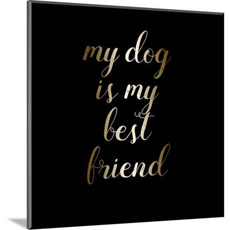 Best Friend Dog-Jelena Matic-Mounted Art Print