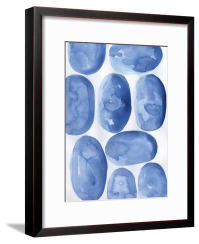 Indigo Stones-Pam Varacek-Framed Art Print