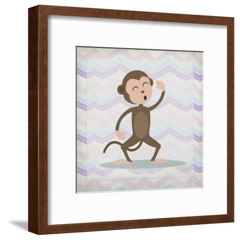 Pink Monkey Time-Kimberly Allen-Framed Art Print