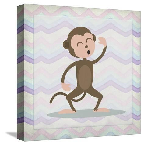 Pink Monkey Time-Kimberly Allen-Stretched Canvas Print