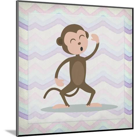 Pink Monkey Time-Kimberly Allen-Mounted Art Print