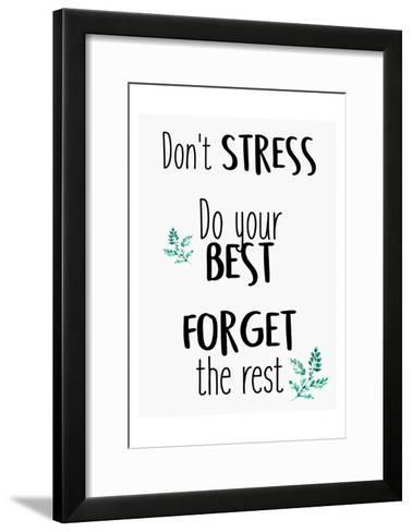Dont Stress-Kimberly Allen-Framed Art Print