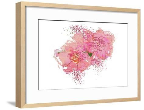 Pink Peonies-Sarah Butcher-Framed Art Print