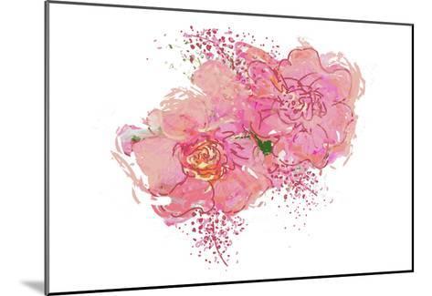 Pink Peonies-Sarah Butcher-Mounted Art Print