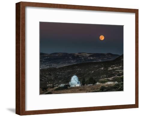 Milos Harvest Moon-Vladimir Kostka-Framed Art Print