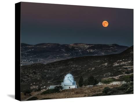 Milos Harvest Moon-Vladimir Kostka-Stretched Canvas Print