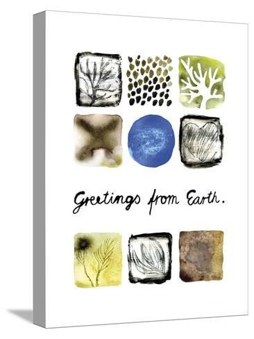 Greetings from Earth-Kirsi Sundell-Stretched Canvas Print