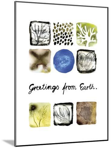 Greetings from Earth-Kirsi Sundell-Mounted Art Print