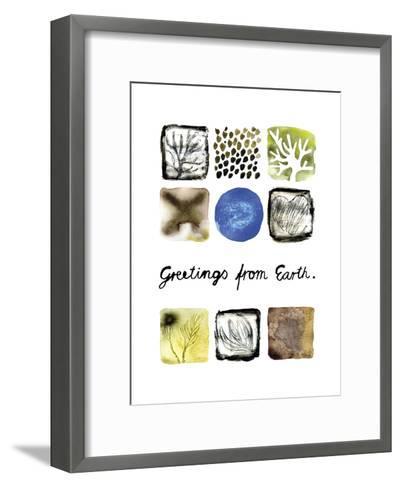 Greetings from Earth-Kirsi Sundell-Framed Art Print