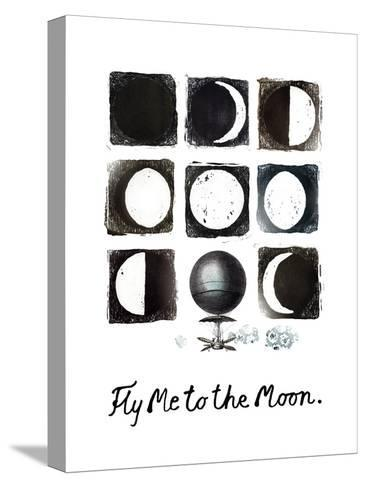 Fly me to the Moon-Kirsi Sundell-Stretched Canvas Print