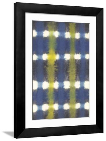 Shibori - Itajime Check-Sandra Jacobs-Framed Art Print