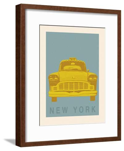 New York - Cab-Ben James-Framed Art Print