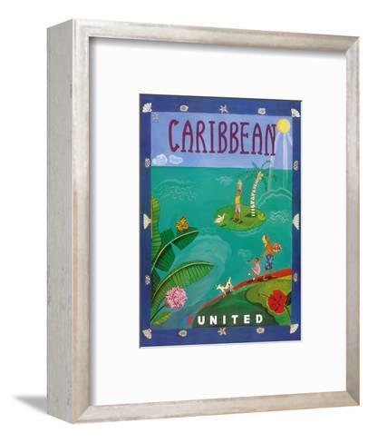 Caribbean - United Air Lines-Melisande Potter-Framed Art Print