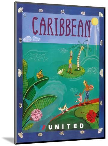 Caribbean - United Air Lines-Melisande Potter-Mounted Art Print
