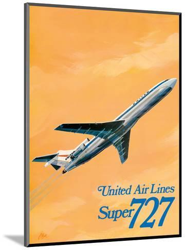 Boeing Super 727 Jet Airplane - United Airlines-C Bail-Mounted Art Print