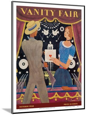 Vanity Fair - Magazine Cover October, 1930 - Carnival Shooting Gallery-Georges Lepape-Mounted Art Print
