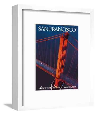 San Francisco - Piedmont Airlines - Golden Gate Bridge-Pacifica Island Art-Framed Art Print