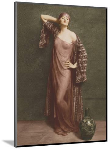 Yasmin, Portrait - Classic Vintage French Nude - Hand-Colored Tinted Art-Albert Henry Collings-Mounted Art Print