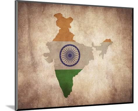 Map with Flag Overlay India-Color Me Happy-Mounted Art Print