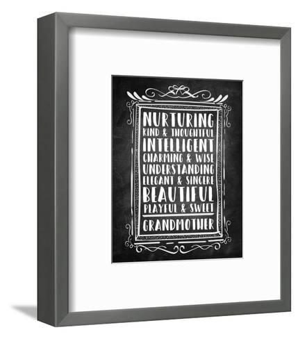 Grandma - Chalkboard-Color Me Happy-Framed Art Print