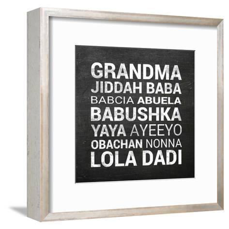 Grandma Various languages - Chalkboard-Color Me Happy-Framed Art Print