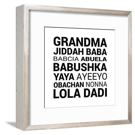 Grandma Various languages-Color Me Happy-Framed Art Print