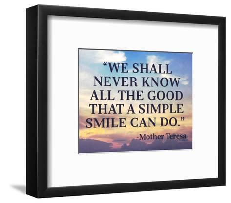 A Simple Smile-Quote Master-Framed Art Print