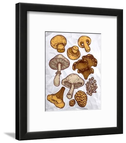 Mushroom Variation-Color Me Happy-Framed Art Print