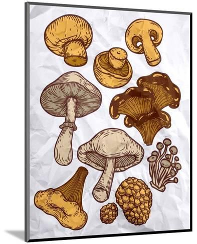 Mushroom Variation-Color Me Happy-Mounted Art Print