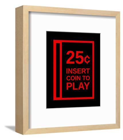 Insert Coin To Play-Color Me Happy-Framed Art Print