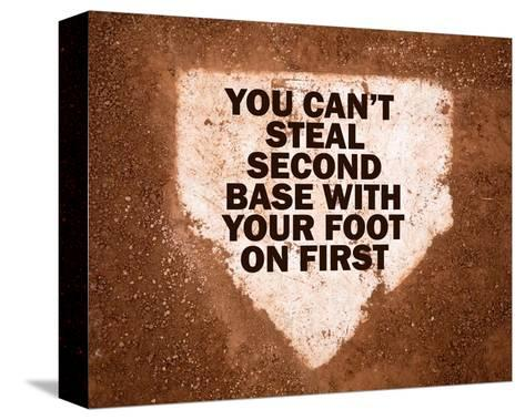 Second Base-Sports Mania-Stretched Canvas Print