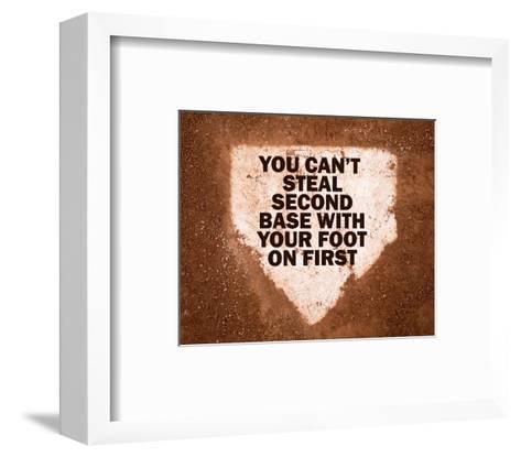 Second Base-Sports Mania-Framed Art Print