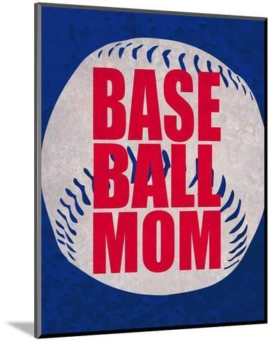 Baseball Mom In Blue-Sports Mania-Mounted Art Print