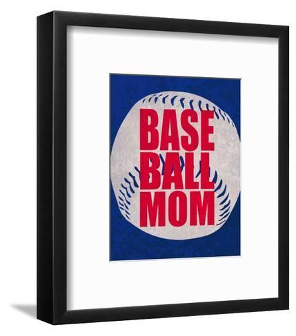 Baseball Mom In Blue-Sports Mania-Framed Art Print