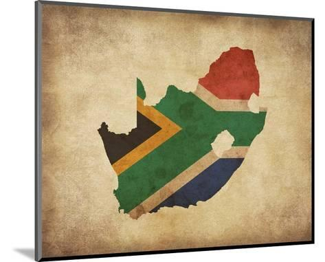 Map with Flag Overlay South Africa-Color Me Happy-Mounted Art Print