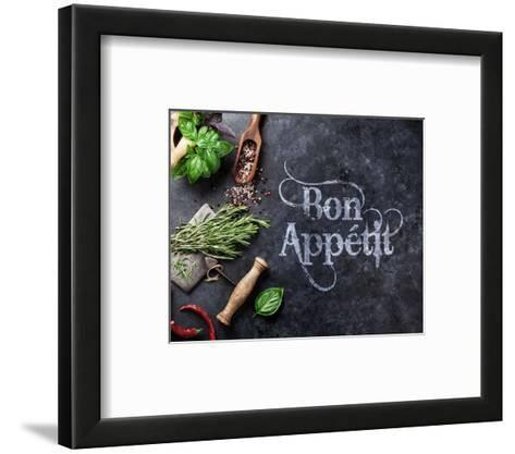 Bon Appetit Herbs and Spices-Color Me Happy-Framed Art Print