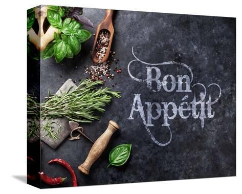 Bon Appetit Herbs and Spices-Color Me Happy-Stretched Canvas Print