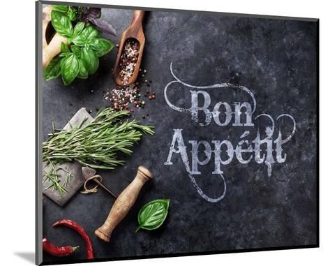 Bon Appetit Herbs and Spices-Color Me Happy-Mounted Art Print
