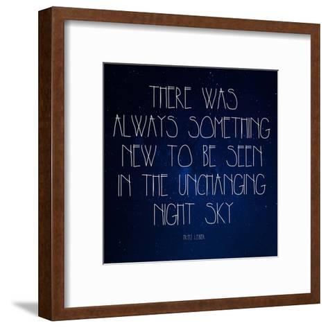 Night Sky - Fritz Leiber Quote-Quote Master-Framed Art Print