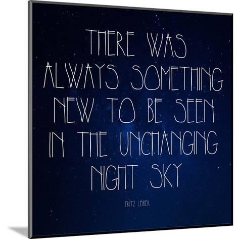 Night Sky - Fritz Leiber Quote-Quote Master-Mounted Art Print