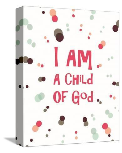 I Am A Child Of God Radial Dots Pink-Inspire Me-Stretched Canvas Print