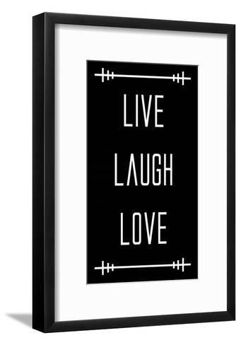 Live Laugh Love - Black-Color Me Happy-Framed Art Print