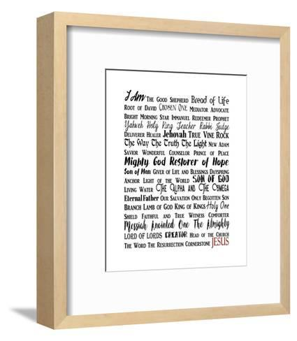 Names of Jesus Rectangle Black and Red Text-Inspire Me-Framed Art Print
