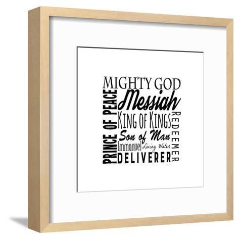 Names of Jesus Square Black Text-Inspire Me-Framed Art Print